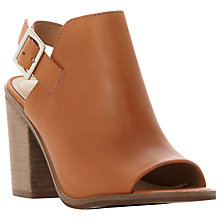 Buy Steve Madden Tallen Block Heeled Peep Toe Sandals, Tan Leather Online at johnlewis.com