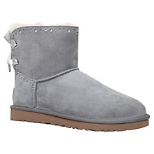 Buy UGG Dixie Floral Ankle Boots, Grey Suede Online at johnlewis.com