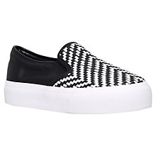 Buy Miss KG Luna Slip On Flatform Trainers, Black/White Online at johnlewis.com