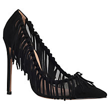 Buy Kurt Geiger Saffron Tassel Detail Court Shoes, Black Suede Online at johnlewis.com