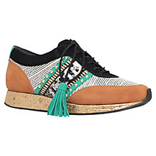 Buy Kurt Geiger Langley Embellished Trainers, Tan/Multi Online at johnlewis.com