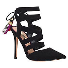 Buy Miss KG Alana Cut Out Stiletto Court Shoes, Black Suedette Online at johnlewis.com
