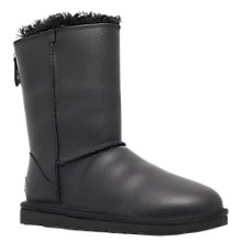 Buy UGG Classic Short Boots, Black Leather Online at johnlewis.com