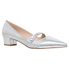 Buy Miss KG Audrina Low Block Heeled Court Shoes, Silver Online at johnlewis.com