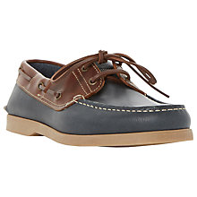 Buy Dune Boat Party Leather Lace-Up Shoes, Brown Online at johnlewis.com