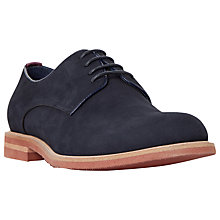 Buy Dune Beatnik Nubuck Lace-Up Derby Shoes, Navy Online at johnlewis.com