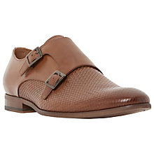 Buy Dune Redwood Woven Embossed Monk Shoes, Tan Online at johnlewis.com