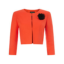 Buy Precis Petite Pique Jacket, Orange Online at johnlewis.com