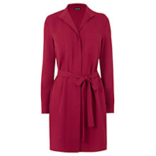 Buy Warehouse Zip Front Belted Dress, Berry Online at johnlewis.com