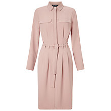 Buy Miss Selfridge Tie Up Shirt Dress, Light Pink Online at johnlewis.com
