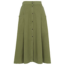 Buy Whistles Edin Button Through Skirt, Khaki Online at johnlewis.com