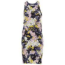 Buy Whistles Wild Floral Silk Bodycon Dress, Black/White Online at johnlewis.com