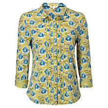 Buy White Stuff Jewelled Bird Jersey Shirt, Lemongrass Online at johnlewis.com