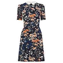 Buy Oasis Floral Collar Shift Dress, Black/Multi Online at johnlewis.com