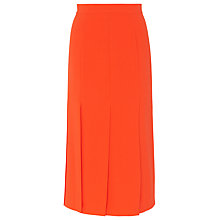Buy Whistles Split Detail Midi Skirt, Orange Online at johnlewis.com