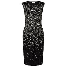 Buy Precis Petite Graduated Square Dress, Black/Multi Online at johnlewis.com