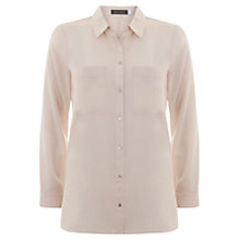 Buy Mint Velvet Pocket Shirt, Pale Pink Online at johnlewis.com