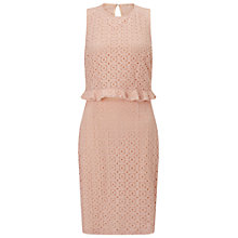 Buy Miss Selfridge Double Layer Dress, Nude Online at johnlewis.com