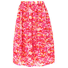 Buy Whistles Watercolour Silk Organza Skirt, Pink/Multi Online at johnlewis.com
