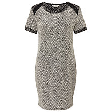 Buy Miss Selfridge Boucle Tunic Dress, Cream Online at johnlewis.com
