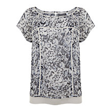 Buy Mint Velvet Essence Print Layered T-Shirt, Multi Online at johnlewis.com