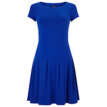 Buy Precis Petite Pleated Jersey Dress, Cobalt Online at johnlewis.com