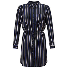 Buy Miss Selfridge Petite Stripe Shirt Dress, Navy/Multi Online at johnlewis.com