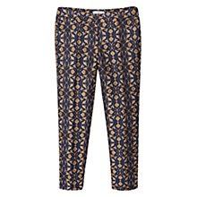 Buy Mango Jacquard Suit Trousers, Navy/Multi Online at johnlewis.com