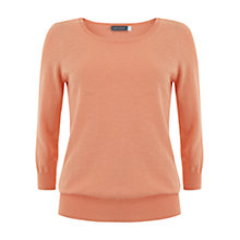 Buy Mint Velvet Sherbet Relaxed Knit Jumper, Orange Online at johnlewis.com