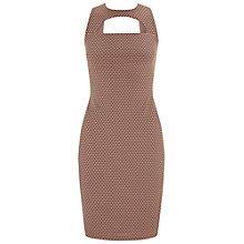 Buy Miss Selfridge Textured Mini Bodycon Dress, Blush Online at johnlewis.com