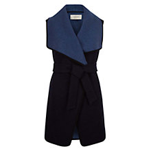 Buy Hobbs Donna Double Face Gilet, Navy Online at johnlewis.com