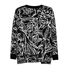Buy French Connection Tattoo Jumble Jumper, Black Online at johnlewis.com