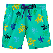 Buy Vilebrequin Moorea Veronese Turtle Swim Shorts, Green Online at johnlewis.com