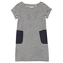 Buy Jigsaw Girls' Stripe Patch Pocket Dress, Navy Online at johnlewis.com