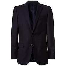 Buy Jaeger Plain Twill Suit Jacket, Navy Online at johnlewis.com