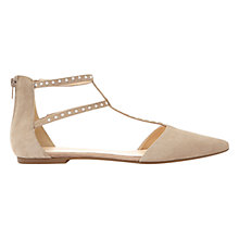 Buy Mint Velvet Alana Pointed Toe Double T-Bar Pumps, Taupe Online at johnlewis.com