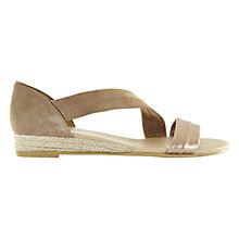 Buy Mint Velvet Ella Low Wedge Heeled Sandals, Metallic Online at johnlewis.com