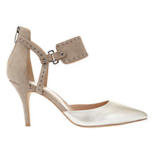 Buy Mint Velvet Heidi Two Part Court Shoes, Grey/Metallic Online at johnlewis.com