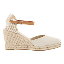 Buy Mint Velvet Gigi Two Part Wedge Heeled Metallic Sandals Online at johnlewis.com