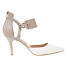 Buy Mint Velvet Heidi Two Part Court Shoes, Grey/White Online at johnlewis.com
