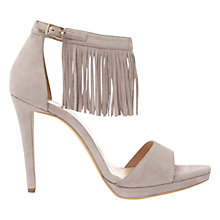 Buy Mint Velvet Mila Fringed Stiletto Sandals, Mink Online at johnlewis.com