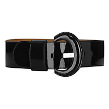 Buy Karen Millen Wide Patent Leather Belt, Black Online at johnlewis.com