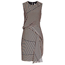 Buy Reiss Sienna Stripe Dress, Blush/Navy Online at johnlewis.com