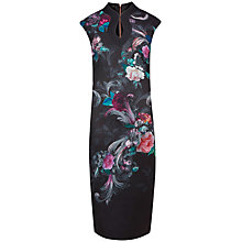 Buy Ted Baker Marcela Acanthus Scroll Print Dress, Black Online at johnlewis.com