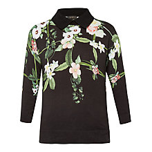 Buy Ted Baker Nellia Secret Trellis Collar Jumper, Black Online at johnlewis.com