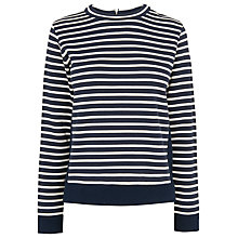 Buy Whistles Stripe Sweat Top, Blue/Multi Online at johnlewis.com