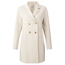 Buy Jigsaw Double Faced Coat, French Clay Online at johnlewis.com