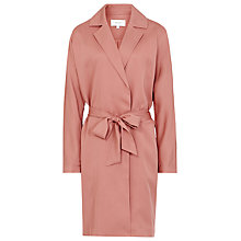 Buy Reiss Manhattan Cupro Trench Coat, Deep Blush Online at johnlewis.com