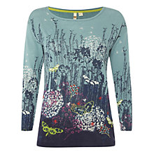 Buy White Stuff Flower Path Jumper, Hyacinth Green Online at johnlewis.com