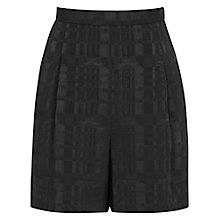 Buy Reiss Paloma Textured Shorts, Black Online at johnlewis.com